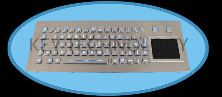 IP65 dynamic washable Vandal Proof Stainless Steel industrial Keyboard